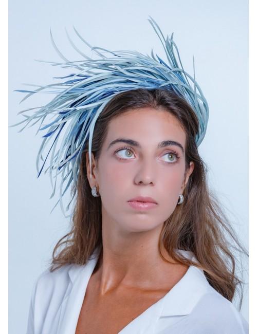 Diadema Teresa azul