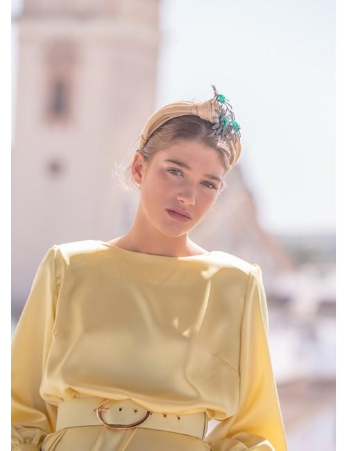 Diadema Olimpia beige